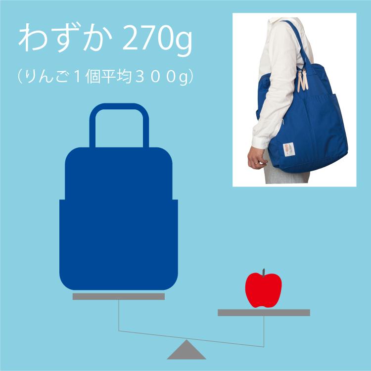 270gの超軽量マザーズバッグ