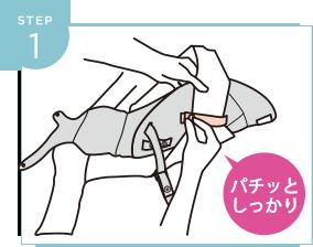 使い方簡単な新生児インサートstep1